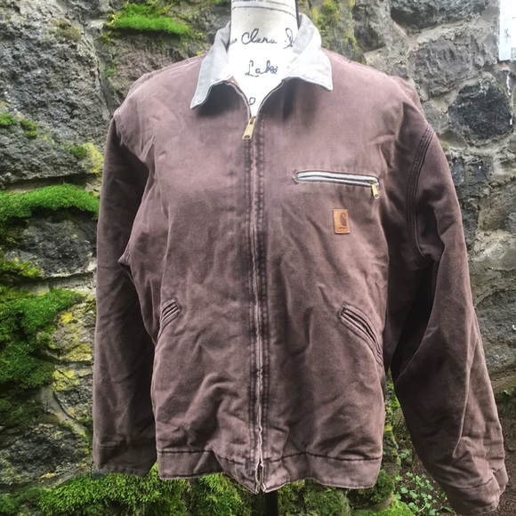 Carhartt Other - Brown Carhartt Jacket Sz Large men's zip-up lined